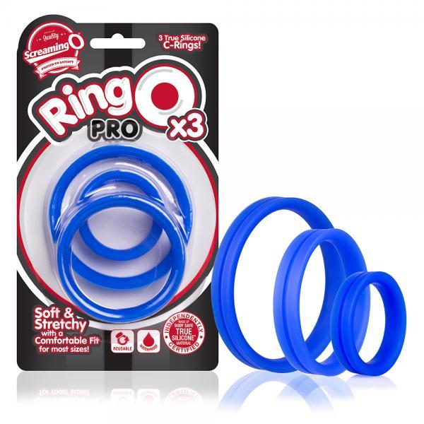 Ringo Pro X3 Blue 3 Silicone Cock Rings