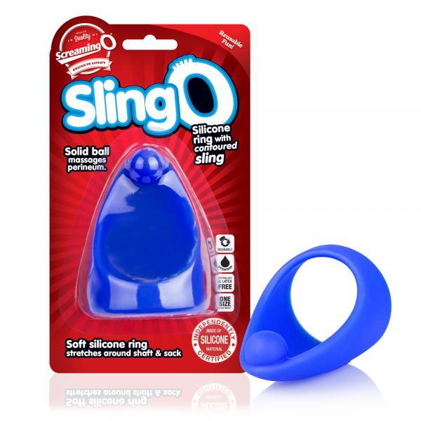 Screaming O SlingO Blue Cock Ring