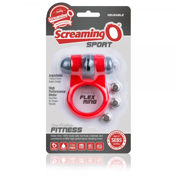Screaming O Sport Red Vibrating Ring