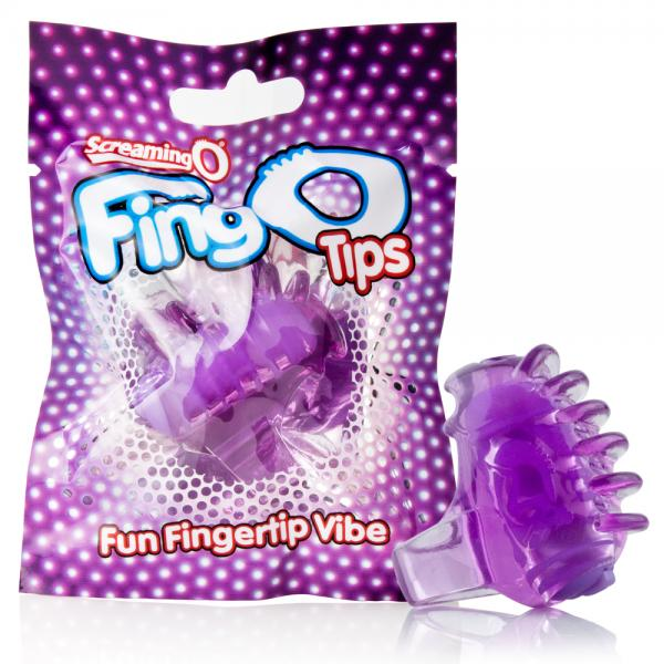 Fingo Tips Purple Fingertip Vibrator- Purple