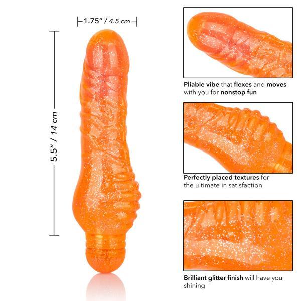 Sparkle Shimmer Stud Orange Vibrator