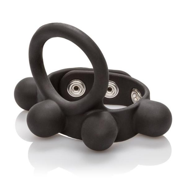 Large Weighted C Ring Ball Stretcher Silicone Black