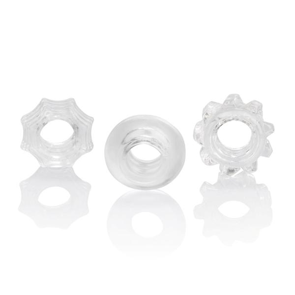 Reversible Ring Set Clear Pack Of 3