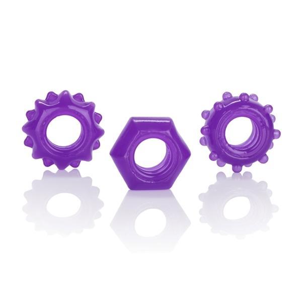 Reversible Ring Set Purple Pack Of 3
