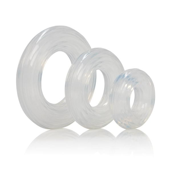 Premium Silicone Ring Set Clear Pack of 3