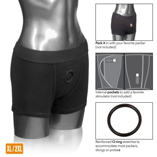 Packer Gear Black Boxer Brief Harness XL/2XL