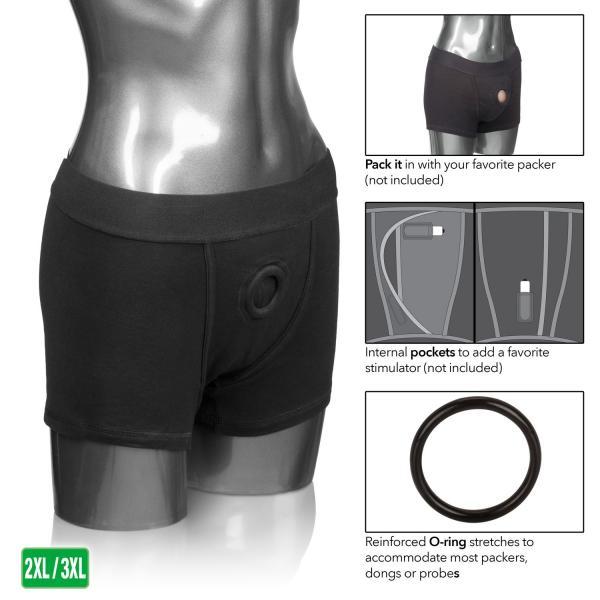 Packer Gear Black Boxer Brief Harness 2XL/3XL