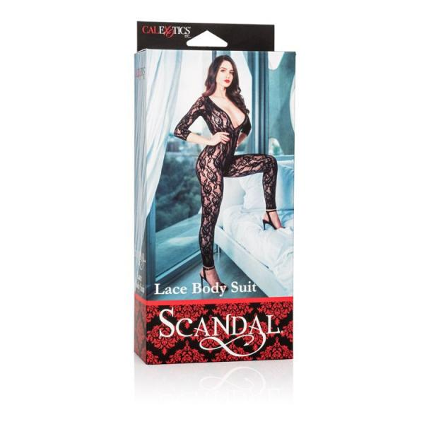 Scandal Lace Body Suit Black O/S