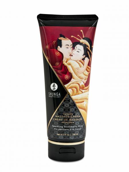 Shunga Massage Cream Sparkling Strawberry Wine 7oz