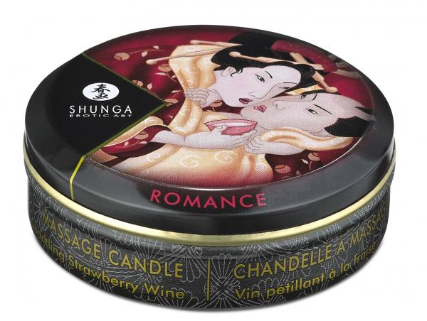 Massage Candle Sparkling Strawberry Wine 1oz.
