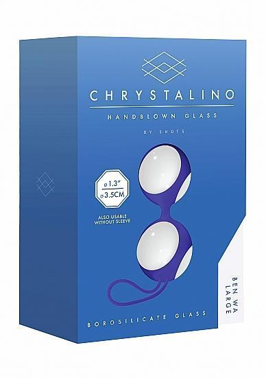 Chrystalino Ben Wa Balls Large White