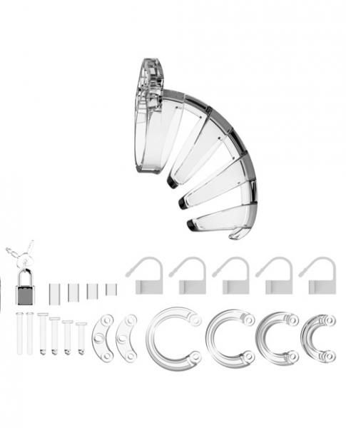 Mancage Chastity Cock Cage 3.5 inches Transparent Model 2