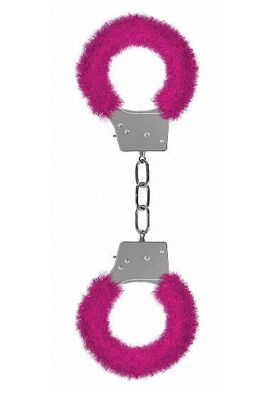 Ouch Beginners Handcuffs Furry Pink