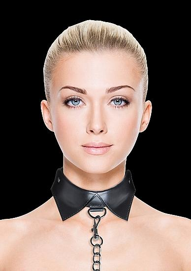 Ouch Exclusive Collar & Leash Black