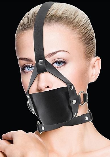 Ouch Leather Mouth Gag Black O/S