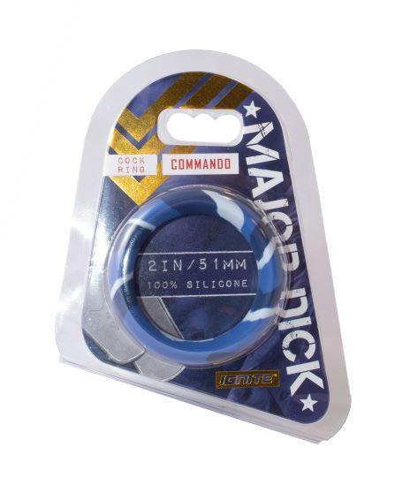 Major Dick Commando Silicone Donut Blue Camo 2.0 inches