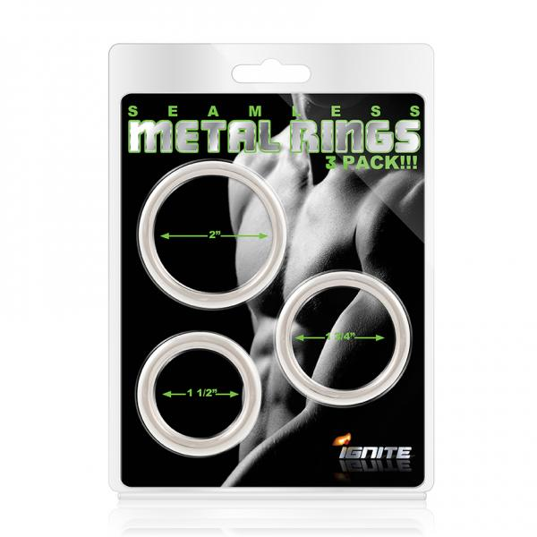 Seamless Metal Rings 3 Pack