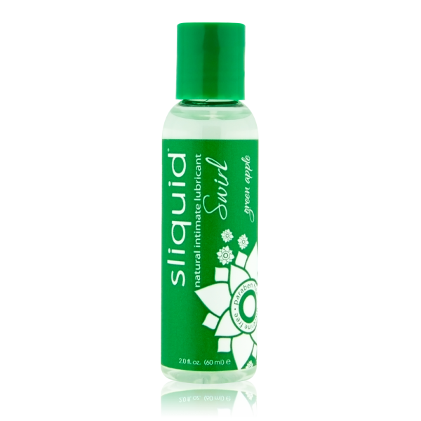 Sliquid Naturals Swirl Lubricant Green Apple 2oz