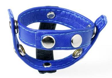 Black and Blue T Style C Ring