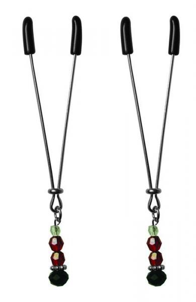 Nipple Clips Ruby Black Adjustable Clamps