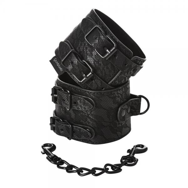 Sincerely Double Strap Handcuffs Black