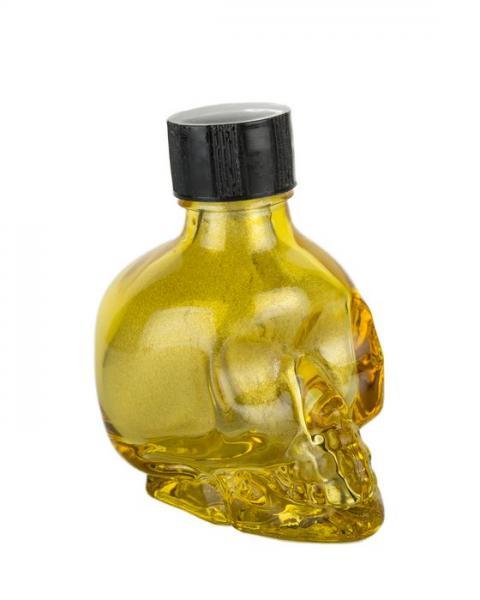 Liquid Latex Sparkle Body Glitter Gold Skull 1oz