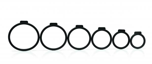 Tantus O Ring Set Black 6 Pack