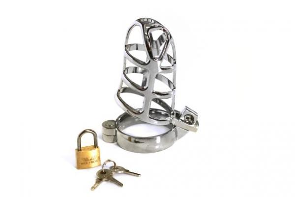 Stainless Steel Chastity Device The Cell Block Silver