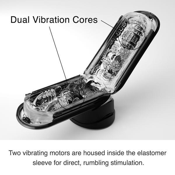 Flip Zero Electronic Vibration Stroker Black