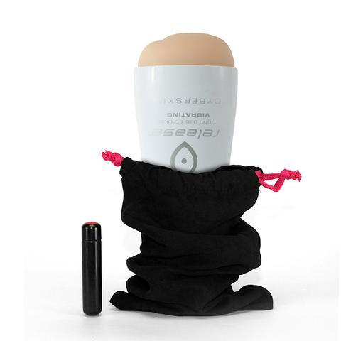 Cyberskin Release Tight Ass Stroker Vibrating Beige