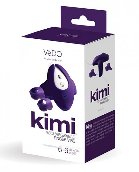Kimi Rechargeable Dual Finger Vibe Deep Purple