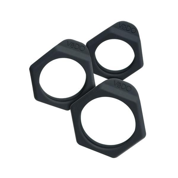 Vedo Bolt Cock Ring Set Just Black