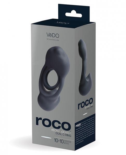 Vedo Roco Dual Motor Vibrating C-Ring Just Black