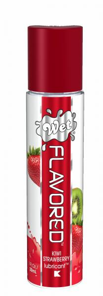 Wet Flavored Gel Lubricant Kiwi Strawberry 1oz