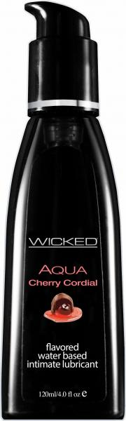 Wicked Aqua Cherry Cordial Flavored Lubricant 4oz