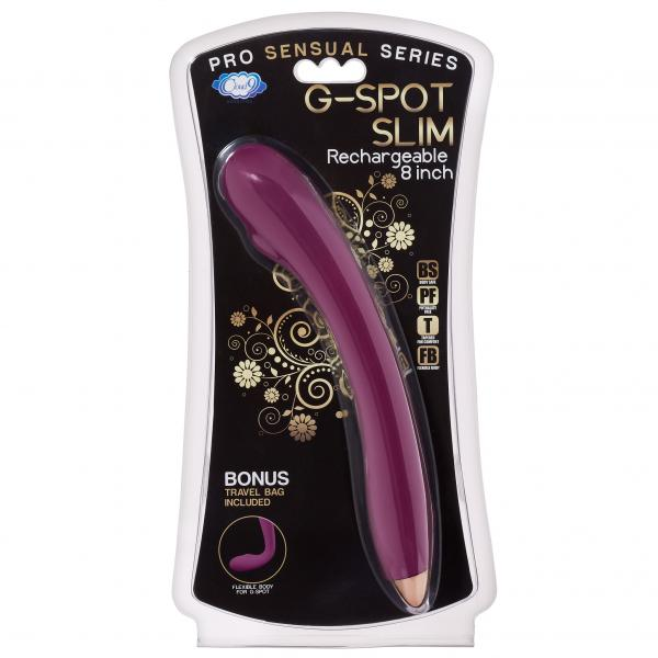 Cloud 9 G-Spot Slim 8 inches Plum Purple Vibrator