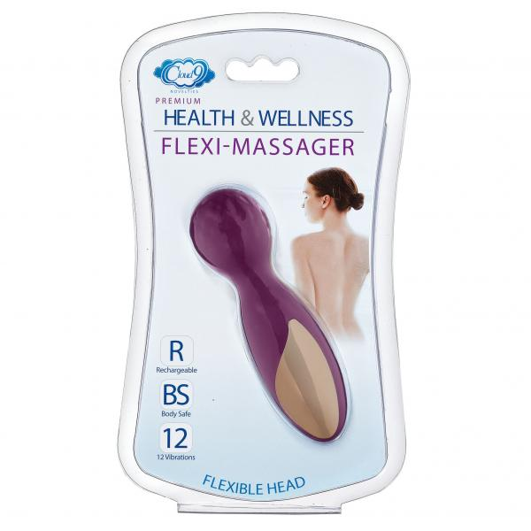 Cloud 9 Health & Wellness Flexi-massager Rechargeable Wand Plum