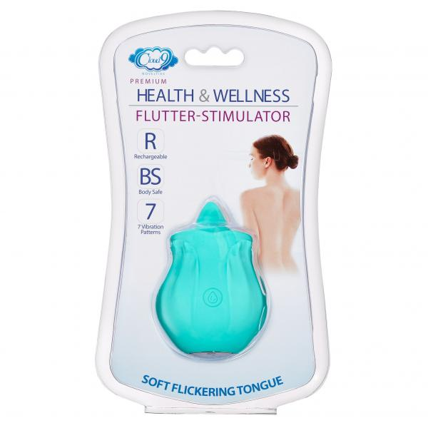 Cloud 9 Health & Wellness Flutter Oral Tongue Stimulator Teal