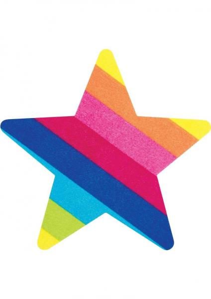 Pasties Rainbow Starz Star Shaped 2 Pairs