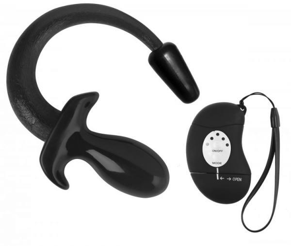 Good Boy Wireless Remote Vibrating  Puppy Tail Anal Plug