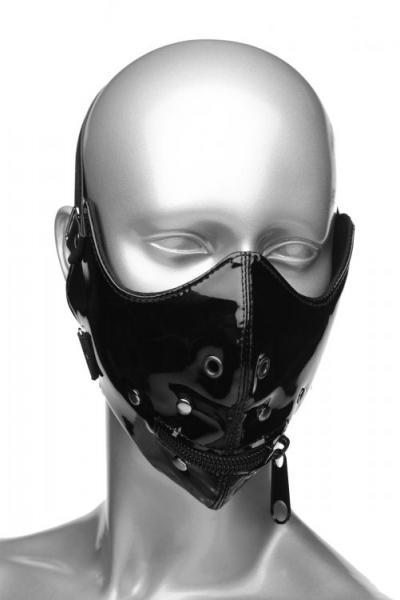 Lektor Zipper Mouth Muzzle Black O/S