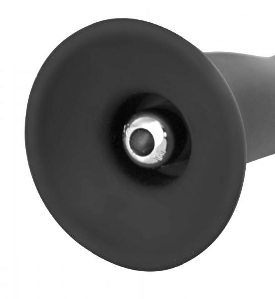 Onyx Vibrating Silicone G-Spot Dildo Black