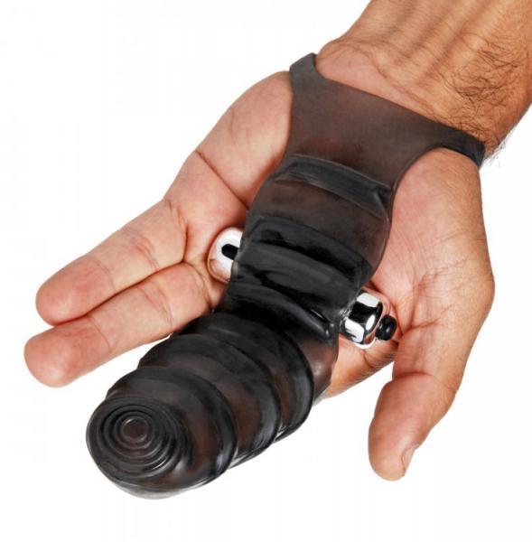 Bang Bang Glove Vibrating Finger Sleeve Black