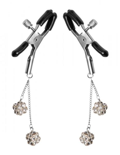 Rhinestone Nipple Clamps Jewel Square Clear