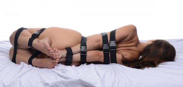 Subdued Full Body Straps Nylon Restraint Set Black