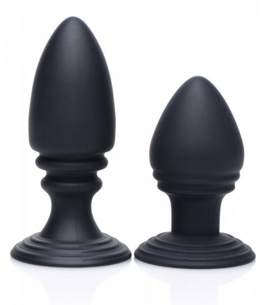 Duplex Silicone Anal Plug Set Black