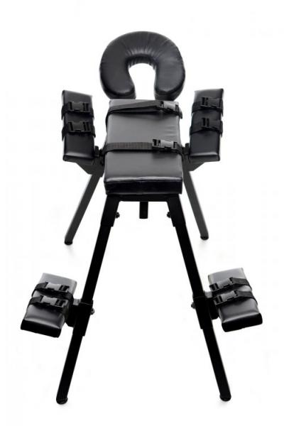 Obedience Extreme Sex Bench With Restraint Straps Black
