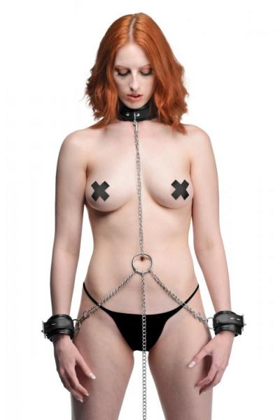 Strict Slave Bondage Shackle Set Black