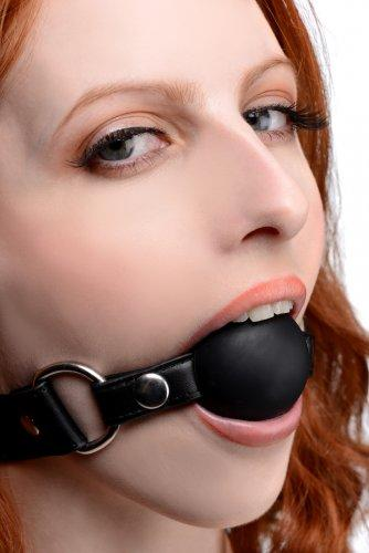 Strict Interchangeable Silicone Ball Gag Set Black