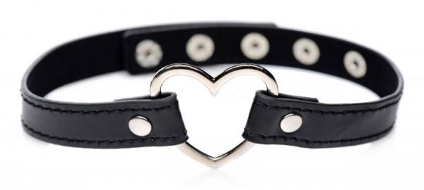 Dark Heart Chrome Heart Black Choker O/S